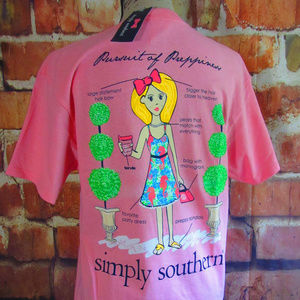 Simply Southern Tees Pursuit Of Preppiness Pink S